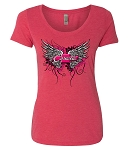 C2 C3 C4 C5 C6 C7 Corvette 1968-2019 Ladies Corvette Wings Tee