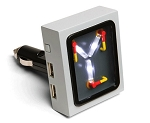 C3 C4 C5 C6 C7 Corvette 1968-2014+ Back To The Future Flux Capacitor USB Car Charger - Any Device - LED Glow Effect