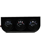 C3 C4 C5 C6 C7 Corvette 1968-2014+ Three 2 Inch Electronic Gauge Kit - Voltmeter, Water Temp, Oil Pressure