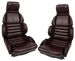 C4 Corvette 1993 Leather-Like Sport Seat Covers - Ruby Red - Set