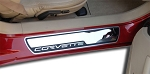 C6 Corvette 2005-2007 Outer Doorsills Stock Pad Inserts - Polished Stainless Steel - Pair