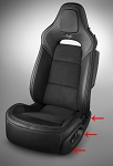 C7 Corvette Stingray/Z06/Grand Sport 2014+ OEM Power Seat Finish Panel - Outer