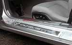 C7 Corvette Stingray/Z06/Grand Sport 2014-2019 Door Sill Guards - Clear - Embossed Logo/Script