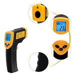 Non-Contact Digital Laser Infrared Thermometer - Yellow/Black