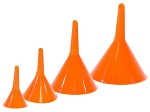 C3 C4 C5 C6 C7 Corvette 1968-2014+ Plastic Funnel Set For Oil, Gas, & Engine Fluids - 4 Piece Set