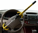 Twin Hooks Steering Wheel Lock - Yellow