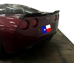 C6 Corvette 2005-2013 Hydro Carbon Fiber Wickerbill Spoiler - No Drill Design
