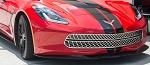C7 Corvette Stingray 2014+ Stainless Steel Expanded Diamond Pattern Front Grille - 3-Piece Set
