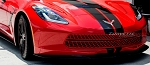 C7 Corvette Stingray 2014+ Custom Painted Front Grille Expanded Diamond Pattern - 3-Piece Set