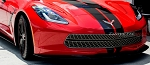C7 Corvette Stingray 2014-2019 Hydro Carbon Fiber Expanded Diamond Pattern Front Grille - 3-Piece Set