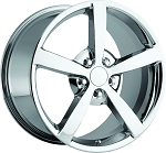 C6 Corvette 2005-2013 2009 Style Chrome Wheel Set 18x8.5/19x10