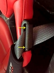 C7 Corvette Stingray / Z06 / Grand Sport 2014+ Interior Seat Belt Guide Anti-Belt Pop Guard - Pair