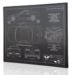 C5 Corvette 2001-2004 Z06 Engraved Blueprint Art - Material Selection Options