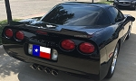 C5 Corvette 1997-2004 Hydro Carbon Fiber Wicker Bill Spoiler - No-Drill Design