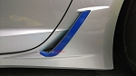 C7 Corvette Z06/Grand Sport 2015+ Rear Brake Vent Duct Vinyl Overlay - Pair