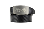C3 C4 C5 C6 C7 Corvette 1968-2014+ Crossed Flags Emblem Carbon Fiber Belt - Nickel