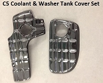 C5 Corvette 1997-2004 Hydro Carbon Fiber Coolant & Washer Tank Cover Set