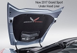 C7 Corvette Grand Sport 2017+ GM Under Hood Liner - With Colored Emblem & Script