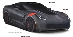 C7 Corvette Stingray/Z06/Grand Sport 2014-2019 GM Indoor Car Cover - Grand Sport Print