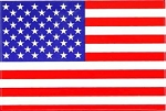 Heavy Duty Vinyl American Flag Decal - 3in x 5in