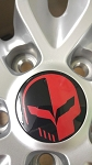 C5 C6 C7 Corvette 1997-2014+ Jake Skull Center Cap Decals - Generation & Color Options