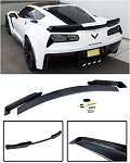 C7 Corvette Stingray/Z06/Grand Sport 2014-2019 Unpainted Stage 2 Wicker Bill Spoiler w/ Optional Tinted Wickerbill
