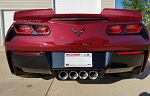 C7 Corvette Stingray/Z06/Grand Sport 2014-2019 Custom Painted Stage 2 Modular Wicker Bill Spoiler w/ Winglets & Optional Tinted Center Insert
