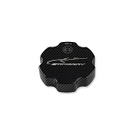 C7 Corvette Stingray/Z06/Grand Sport 2014-2019 Colored Hydro Carbon Billet Aluminum Brake Fluid Cap Cover w/ Logo