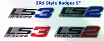 C6 Corvette 2005-2013 ZR1 Style Aluminum Badges / Engine Plates Emblems - LS2 & LS3