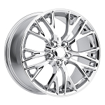C7 Corvette Chrome OEM Style Z06 Wheels - 19x8.5 / 20x10