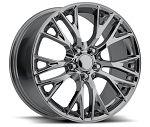 C7 Corvette Black Chrome OEM Style Z06 Wheels - 19x8.5 / 20x10