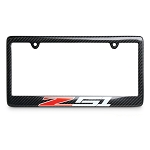 C6 C7 Corvette 2005-2014+ Carbon Fiber License Plate Frame - w/ Red & White Z51 Logo