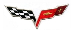 C6 Corvette 2005-2013 Front Hood Nose Emblem Patch - 6-inch