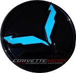 C7 Corvette Stingray/Z06/Grand Sport 2014-2019 Vinyl Wheel Center Cap Emblem Insert Overlays - Set Of 4