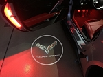 C7 Corvette 2014-2019 LED Logo Projector Lights - Cross Flags & Lettering