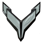 C8 Corvette 2020+ Front Flag Emblem Full Overlay Set - Color Options
