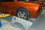 C6 Corvette 2005-2013 Z06/Grand Sport Style Rear Quarter Panels - Non Flared
