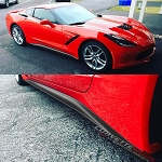 C7 Corvette Stingray/Z06/Grand Sport 2014+ Hydro Carbon Fiber Stage 1 Style Side Skirts