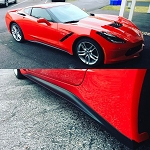 C7 Corvette Stingray/Z06/Grand Sport 2014-2019 Stage 1 Side Skirts - Unpainted