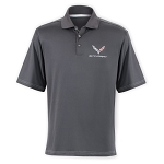 C7 Corvette Stingray 2014+ Contrast Stitch Polo - Charcoal Gray