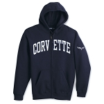 C6 C7 Corvette 2005-2014+ Full-Zip Applique Hooded Sweatshirt