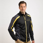 C7 Corvette 2014+ Colorblock Jacket - Black w/ Yellow Accents