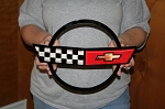 Corvette C4 Front Emblem Metal Sign