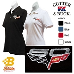 C6 Corvette 2013 60th Anniversary Embroidered Ladies Cutter & Buck Ace Polo