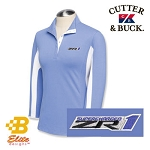 C6 Corvette 2005-2013 ZR1 Ladies Cutter & Buck 3/4 Sleeve Polo