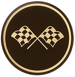 C3 Corvette 1968-1982 Black and Gold Cross Flag Wheel Decals
