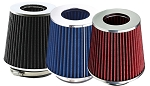 3.5 Inch/89mm Cold Air Intake Replacement Cone Filter - Red, Blue or Black Color Selection