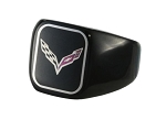 C7 Corvette Stingray/Z06/Grand Sport 2014-2019 Polished Stainless Steel Signet Ring - Logo Options