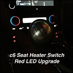 C6 Corvette 2005-2013 Red LED Seat Heater Switch Upgrade