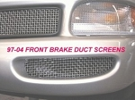 C5 Corvette 1997-2004 Brake Duct Screen Grilles